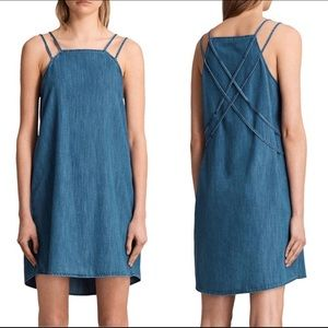 NWT All Saints Denim Hally Dress